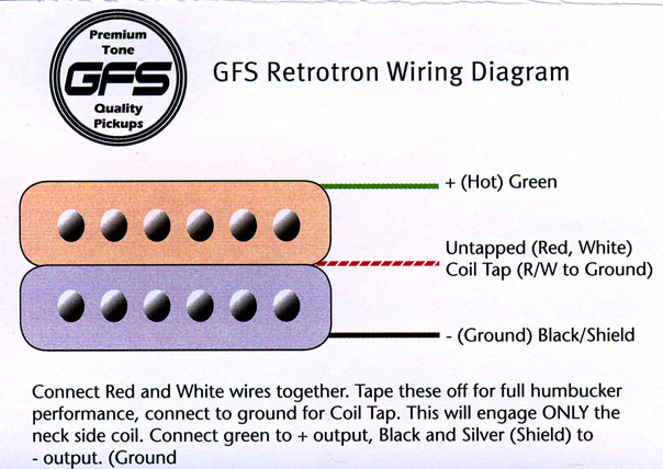 gfs wiring a gfs humbucker need detailed instructions harmony central gfs pickup wiring diagram at beritabola.co